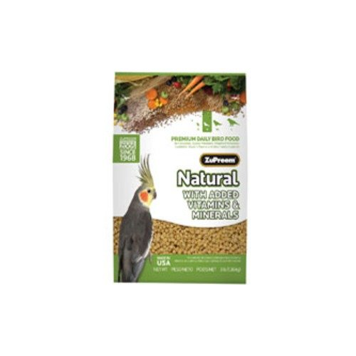ZuPreemNatural Premium Bird Diet for Cockatiels with added Mineral and Vitamins by ZuPreem