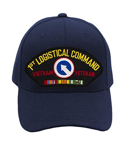 (Patchtown 1st Logistical Command - Vietnam Hat/Ballcap Adjustable One Size Fits Most (Navy Blue, Standard (No)