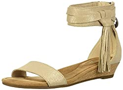 Koolaburra By Ugg Women's W Saige Wedge Sandal, Frosted Almond, 08 Medium Us
