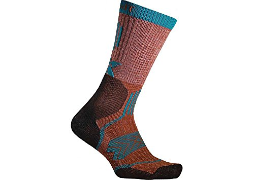 (Thorlos Unisex OFXU Outdoor Fanatic Thick Padded Crew Sock, Clay, Medium)