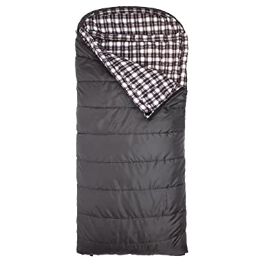 TETON Sports Fahrenheit XXL +20F Sleeping Bag, Grey, Left Zip