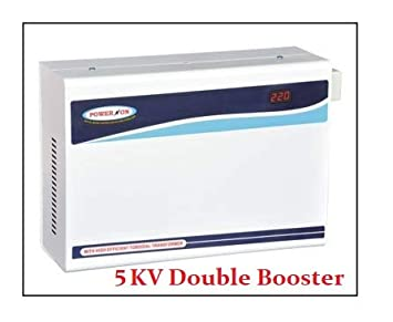 Gadget Wagon Wall mountable 5 KVA 140 245 V AC Double Booster Voltage Stabilizer for 1, 1.5, 2 Ton Air Conditioner with LED Indicator