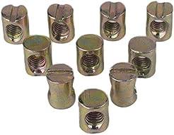 Flammi 10pcs Metric M6 Barrel Nuts Cross...