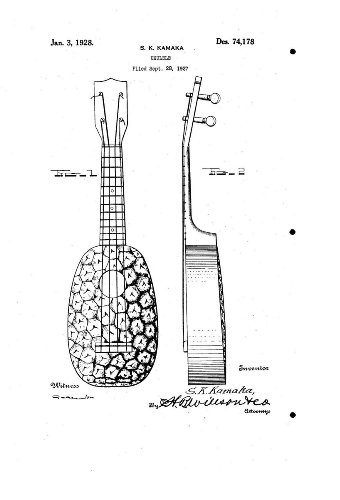 1928 Kamaka D74178 UKULELE Patent 2 for sale  Delivered anywhere in USA