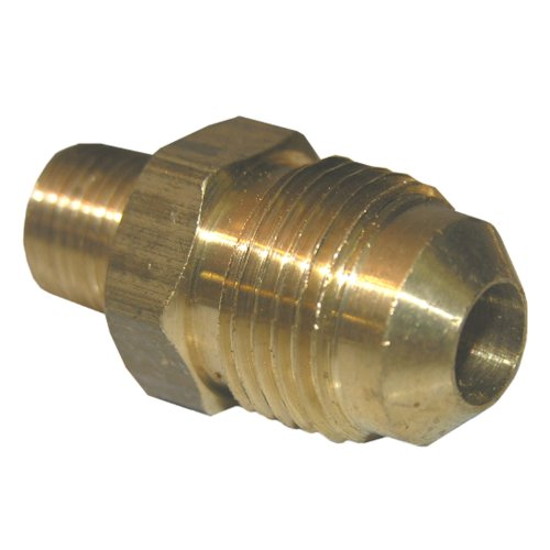 LASCO 17-4829 3/8-Inch Flare by 1/4-Inch Male Pipe Thread Brass Adapter