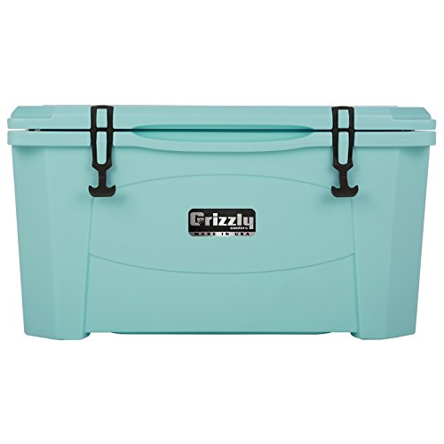 Grizzly 60 Qt Heavy Duty Ice Retention Cooler Ice Chest - Seafoam Green - Made in USA