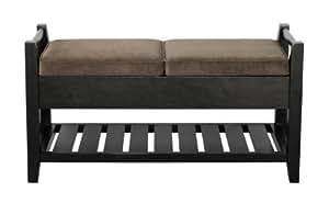 Paris Furniture Carlyle Wooden Storage Ottoman Bench