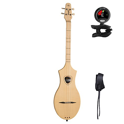 Seagull M4 Merlin Spruce SG Dulcimer 4-String Diatonic Instrument with Snark Tuner and M4 Strap (039227) by Seagull