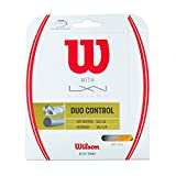 #2: Wilson Duo Control 16g Hybrid Tennis Racket String (Luxilon 4g Rough and NXT Control)