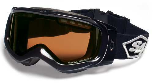 S4 Optics Tour Snow Goggles (Black/Black, Rose with Chromium Mirrored)