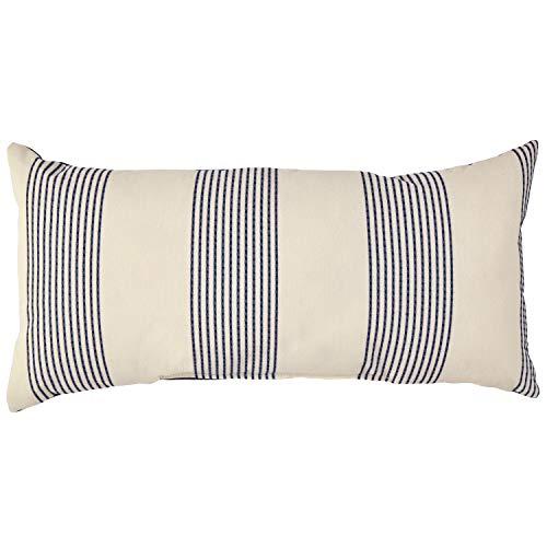 Stone & Beam Casual Outdoor Stripe Throw Pillow, 24