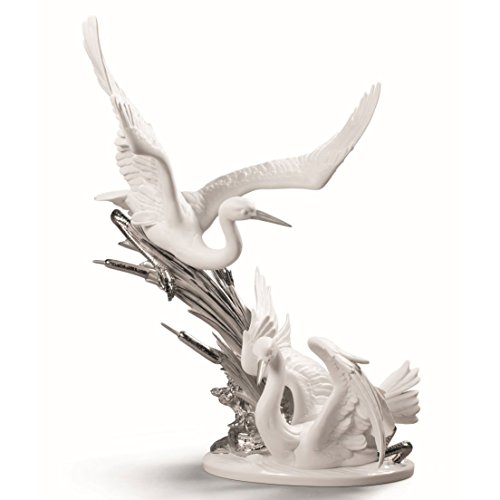 Lladro Cranes Re-Deco Figurine 01009090 - Plus One Year Breakage Protection