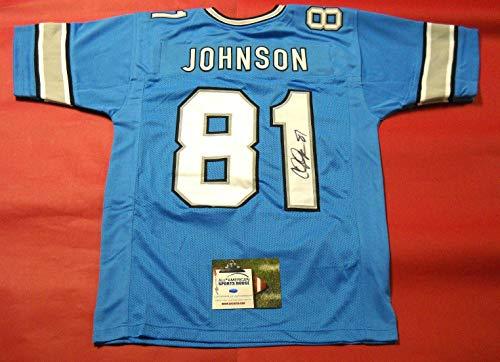 Calvin Johnson Signed Jersey - Aash - Autographed NFL Jerseys ()