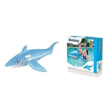 lively moments Hinchable Tiburón en azul claro / Montura Para ...