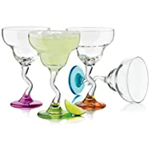 Libbey- Set Of 4 Margarita Colored Glasses