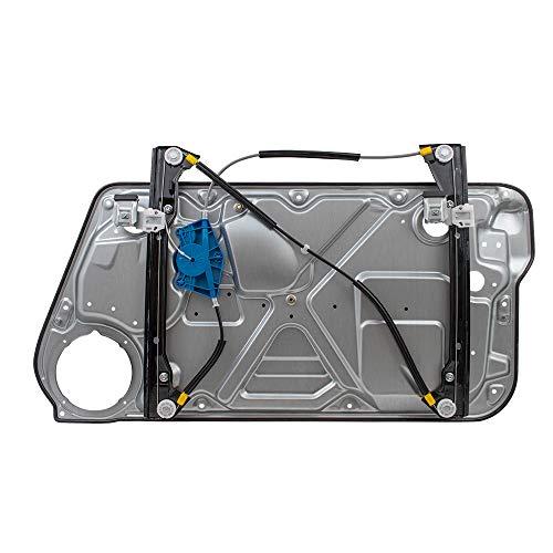 (Drivers Front Power Window Lift Regulator with Interior Door Panel Replacement for Volkswagen 1C0837655C)