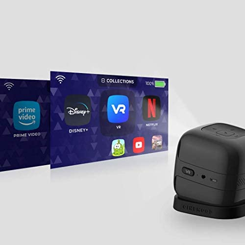 CINEMOOD 360 – First 360° Interactive Portable Projector with 360 Degree Videos, Interactive Motion Games, Prime Video, Netflix, YouTube & Disney. Switch on and Play. 41WfrvuYaoL