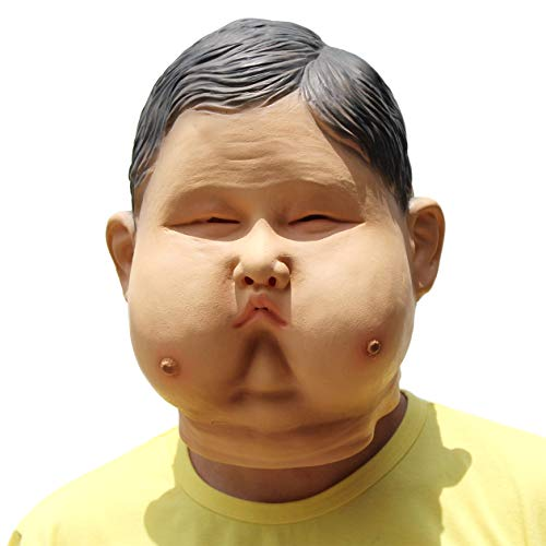 Novelty Funny Halloween Cosplay Party Costume Latex Head Mask - Super Fatso]()