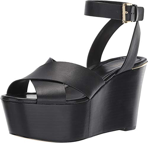 Michael Michael Kors Abbott Platform Wedge Sandal Black (6.5 M US)