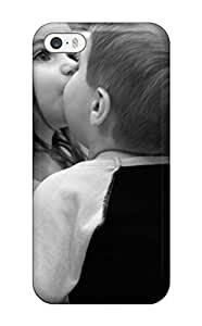 Anti-scratch And Shatterproof Black And White Kids Kiss Phone Case For Iphone 5/5s/ High Quality Tpu Case