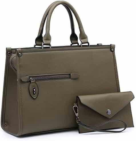 Dasein Purses and Handbags Shoulder Bags Tote Bags for Women Satchel  Handbags With Wallet 2pcs 71027eca45596