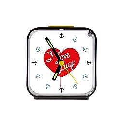 Good.luck Custom I Love Lucy Square Alarm Clock Travel Clocks 100% Quartz as a Nice Gift