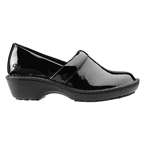 Black Clogs Lila 6 Women's Suregrip Slip 5w Patent Bella Resistant Twwq6ftSx