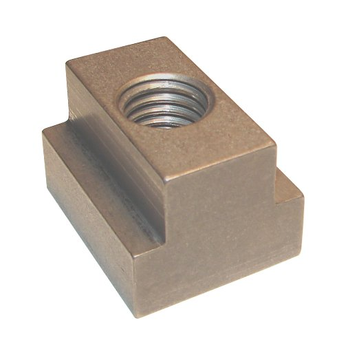 Morton Stainless Steel T-Slot Nuts, Inch Size, 1/4-20 Thread Size, 5/16'' Table Slot, 11/64'' Base Height, 1/2'' Width by Morton