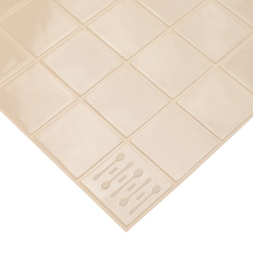 KMN Home DrawerDecor Drawer Liner Basemat, Non-Slip Easy-Clean Shelf Liner, Natural - 14 inches by 20 inches