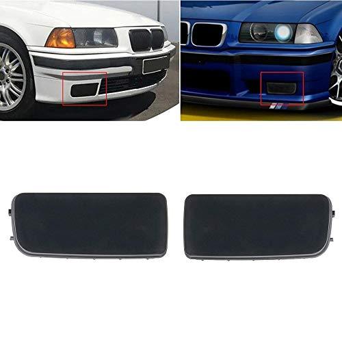 2Pcs RH+LH Black For BMW E36 3-Series 318is 323i 325i Fog Light Hole Cover Cap Grill Grille (Bmw Fog Lights E36)