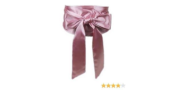 Mujer Satén Sash amplia cintura cinturón Self nudo corbata lazo ...