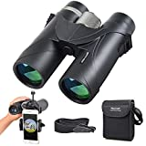 Binoculars, SEEKONE 10×42 Compact HD Binocular for Adults Long-distance Detection Fast Moving Subjects with Smart Phone Adapter for Outdoor Exploration, Focusing in 3 Seconds, Ultra-Wide Field of View
