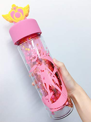New Sailor Moon Large Compact Tumbler Travel Cup Cold Hot Water Bottles Mug Magic Henshin Wand Stick Cosplay Gifts