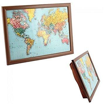 The Leonardo Collection LP27812 World Traveler Map of the TV Dinner Lap Tray, Multicolor (Best Tv Dinners For Diabetics)
