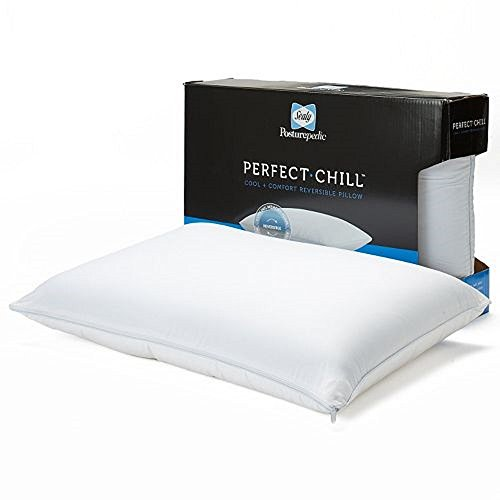 Sealy Posturepedic Perfect Chill Reversible Memory Foam & Fiber Bed Pillow Queen Size