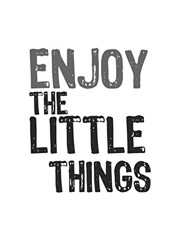 Enjoy The Little Things Print Cute Quote Home Office Wall Inspirational Motivational Sign