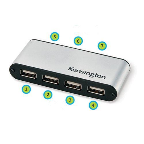 Kensington PocketHub 7-Ports Portable USB Hub (33366)