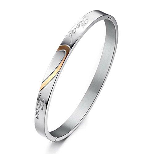INBLUE Womens Stainless Bracelet Valentiness