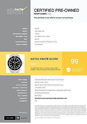 Rolex Sea-Dweller Automatic-self-Wind Male Watch 116600 (Certified Pre-Owned) by Rolex
