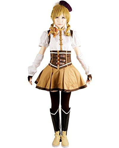 Tomoe Mami Costume (Puella Magi Madoka Magica Tomoe Mami Cosplay Costume (M))