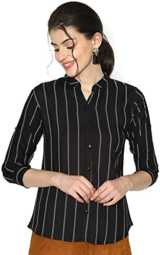 V2 VALUE & VARIETY Women Casual Shirt (Black)-1121051915