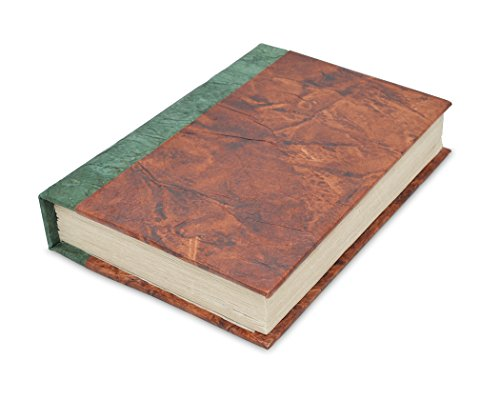 Nepali Eco Writing Journal with Extra-Thick Vintage Handmade Lokta Paper, Clean-cut, Made in the Himalayas of Nepal, 6x9 Inches (Forest Bliss, Epic)