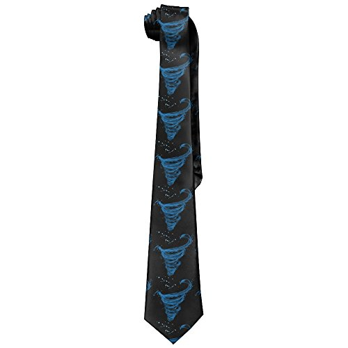 Men's Classic Cool Tornado Water Weather Wind Special Effects Neck Ties Soft And Silky Ties