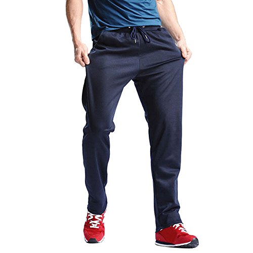 TnaIolr Men Trousers Slim Biker Zipper Denim Jeans Skinny Frayed Pants Distressed Rip