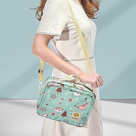 SUNVENO Nappy Changing Bag Changing Sets Bag Waterproof wrap Shoulder Bag Bag for on The Way Diaper Bag Large, Pink