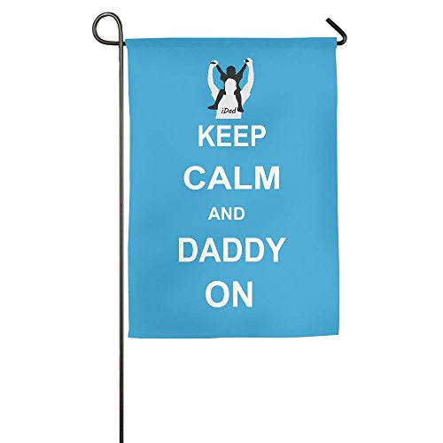 ZHONGJIAN Garden Flag Demonstration Parade Flag Family Party Flag Match Flag Keep Calm And IDad On Father's Day Gift Garden Flag Holder Stand - Gift Card The Number A Is What Card On