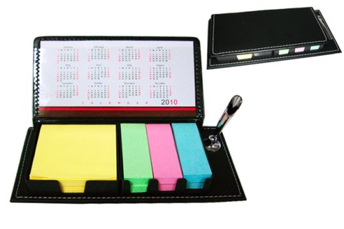 Sticky Note-Leather Organizer w/ Calendar & Pen Holder,Office Supplies and Organizers,(Back To School)