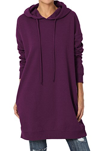 TheMogan Women's Hoodie Loose Fit Pocket Tunic Sweatshirts