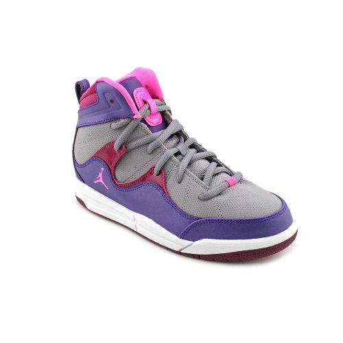 Jordan Flight TR '97 Youth Girls Size 3 Gray Textile Basketball Shoes