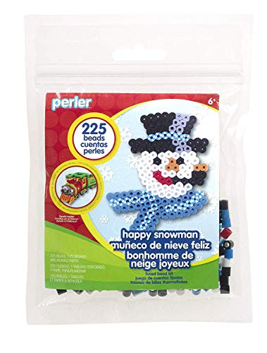 Perler Beads Happy Snowman Holiday Activity Kit Craft for Kids, 227 pcs.